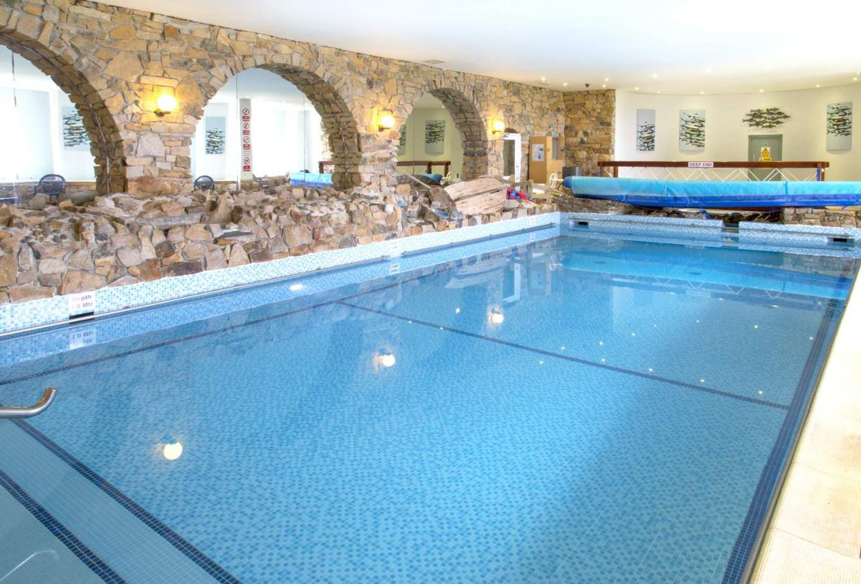Gym, pool and steam room near Newquay at Sands Resort Hotel