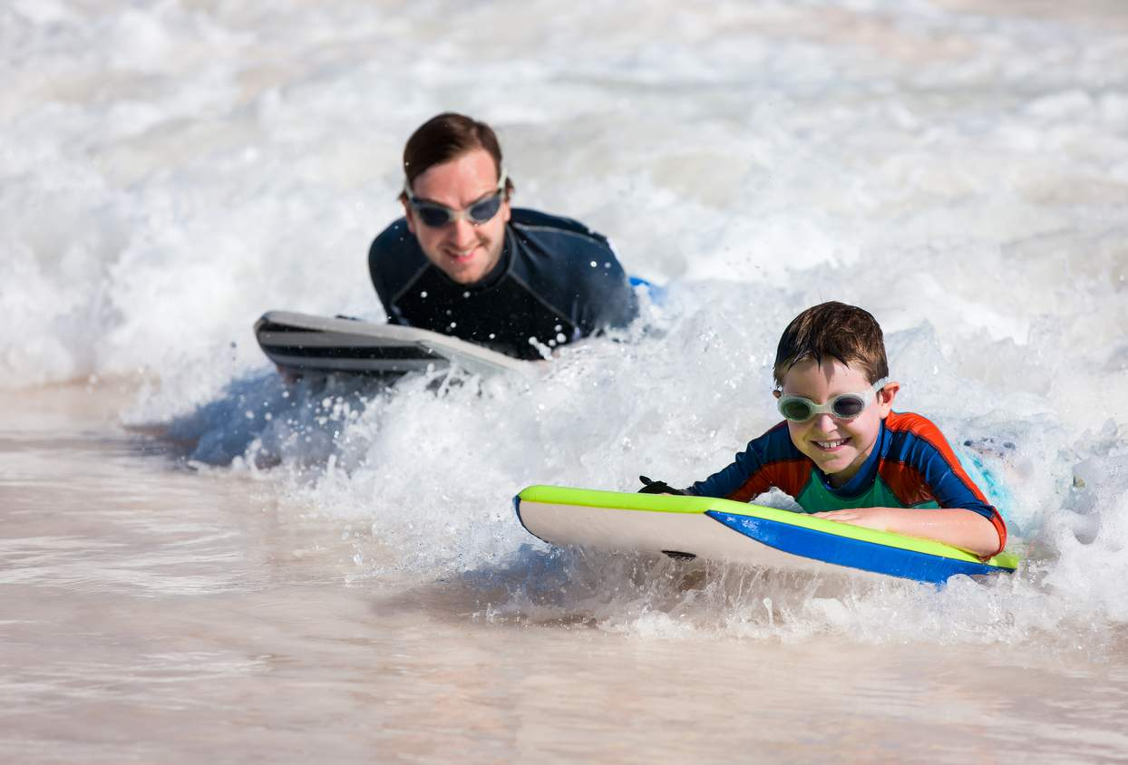 free bodyboard hire sands resort family hotel