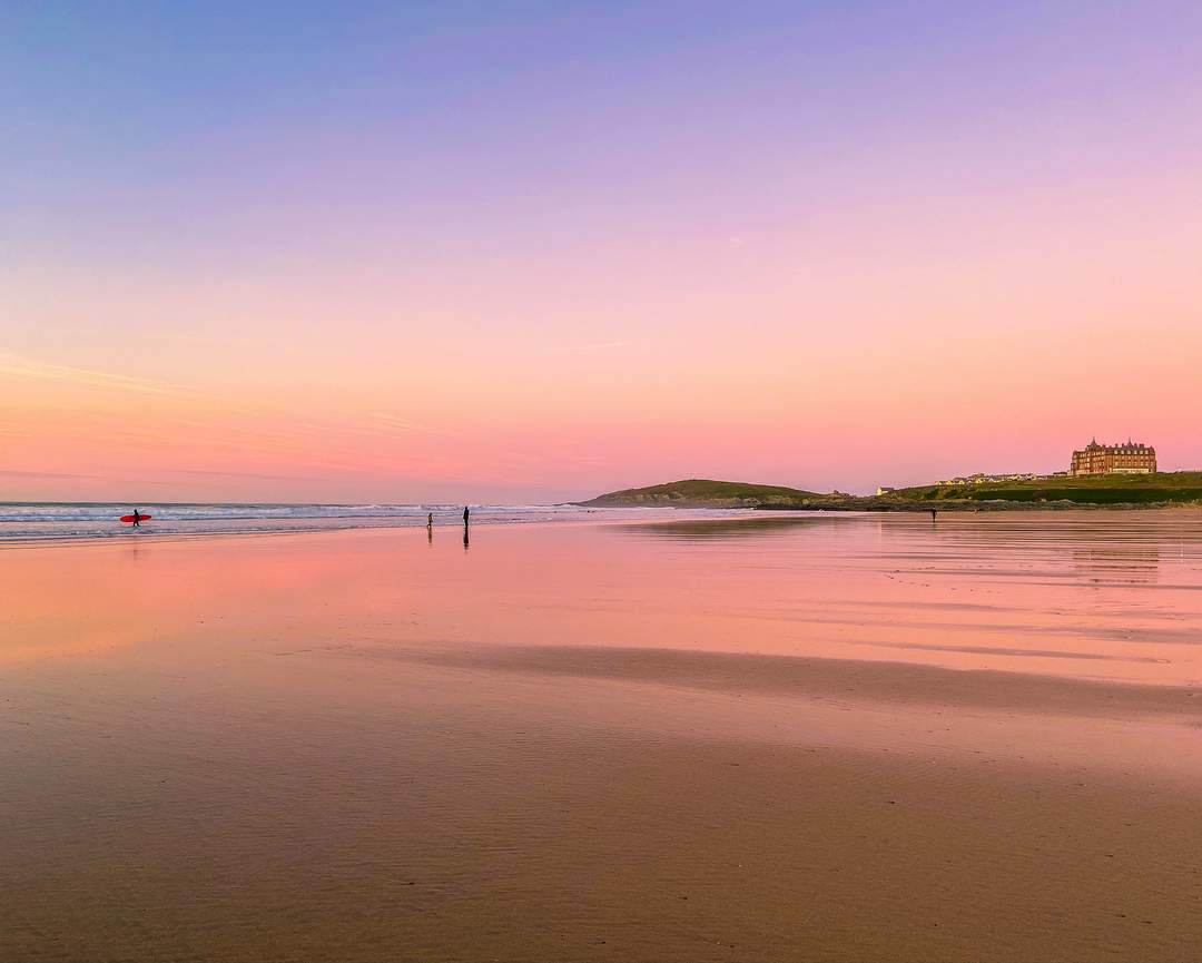best sunset locations cornwall lover fistral beach newquay
