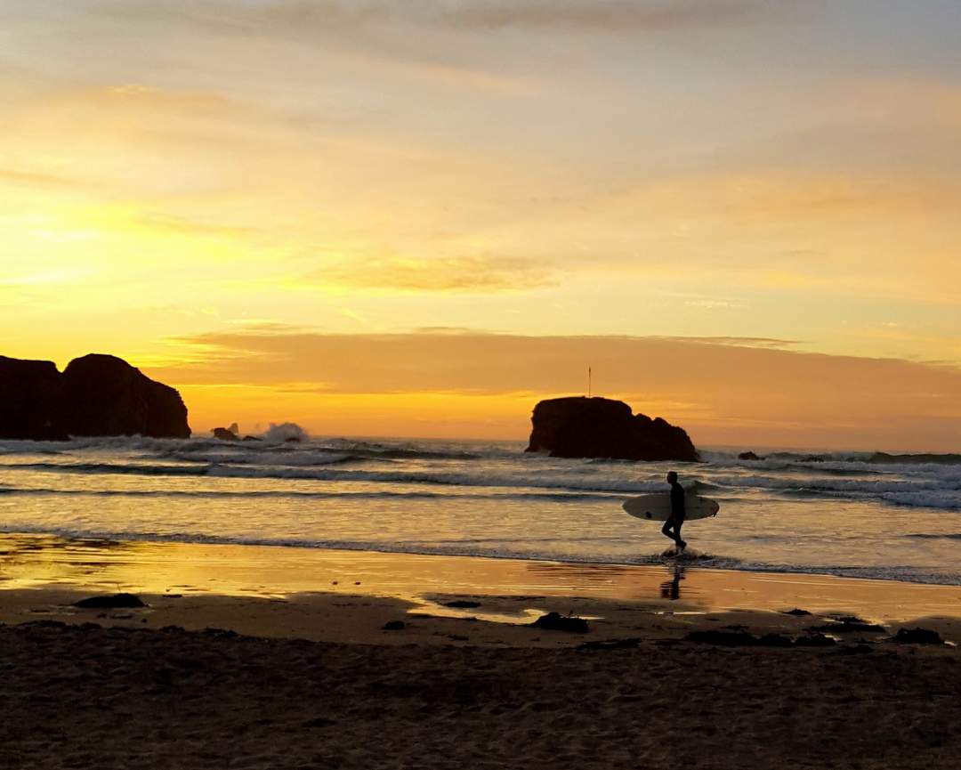 best sunset locations perranporth beach